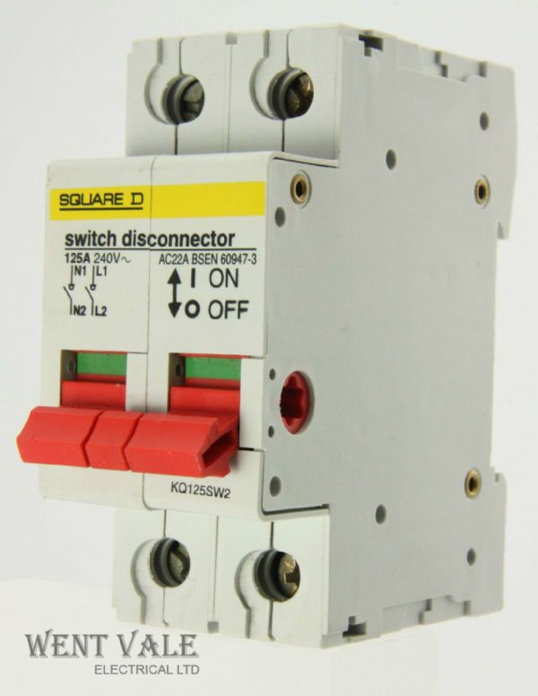Square D Loadcentre - KQ125SW2 - 100a AC22A Switch Disconnector Used
